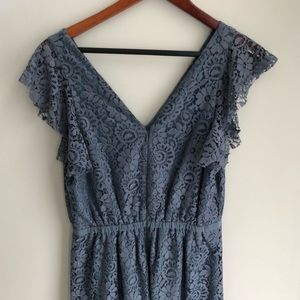 Madewell Flutter Sleeve Lace Dress